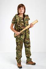 Жилет городской стиль милитари детский для мальчиков камуфляж МТП, фото 2