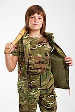 Жилет городской стиль милитари детский для мальчиков камуфляж МТП, фото 3