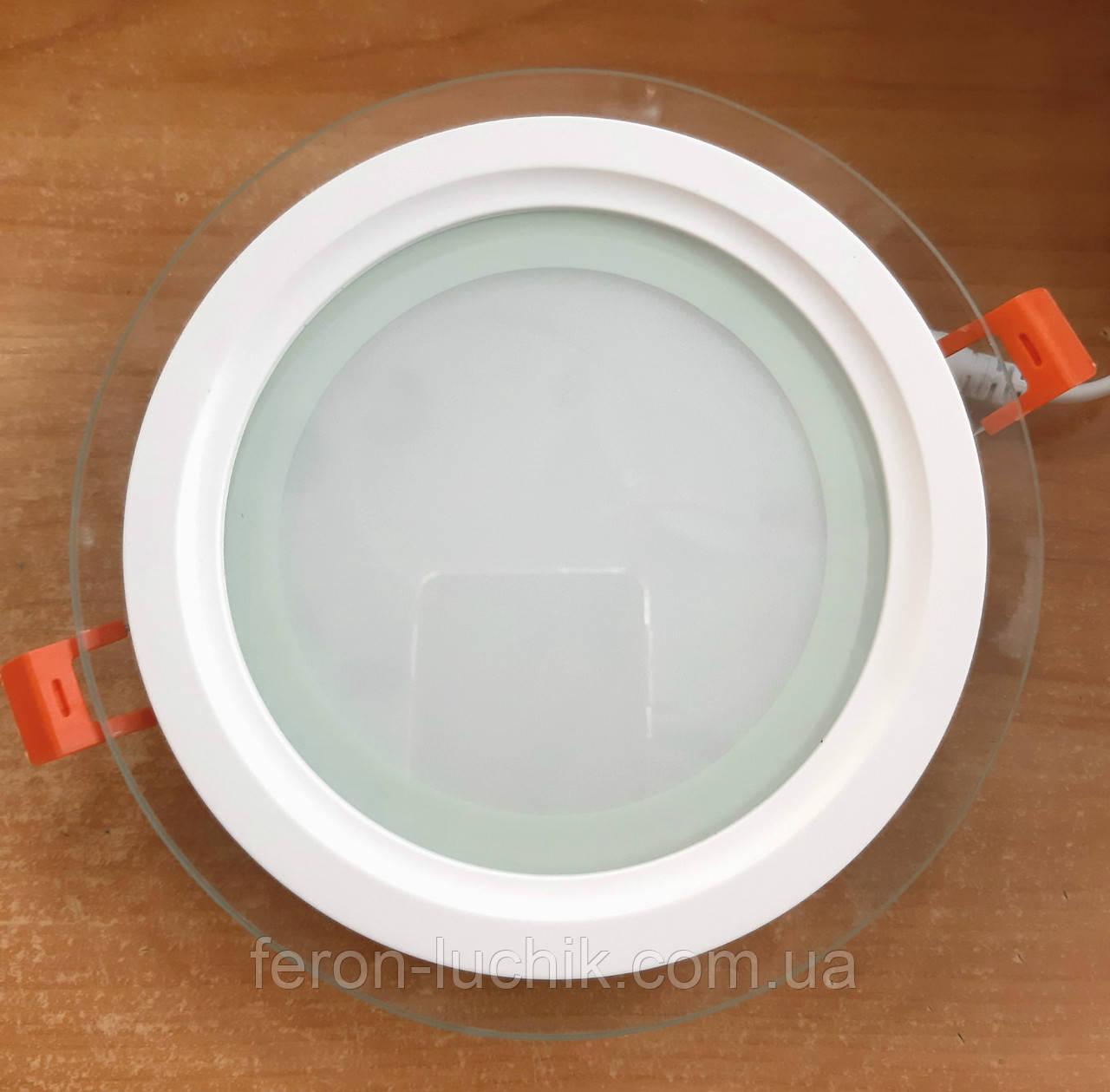 Світильник LED 12w 5000К Feron AL2110 світлодіодний стельовий вбудовуваний зі склом