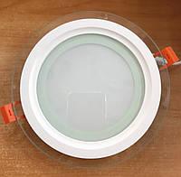 Світильник LED 12w 5000К Feron AL2110 світлодіодний стельовий вбудовуваний зі склом, фото 1