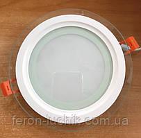 Светильник LED 12w 5000К Feron AL2110 светодиодный потолочный встраиваемый со стеклом