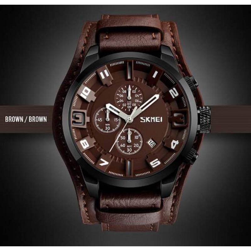 Мужские часы Skmei 9165 Brown-Brown классические