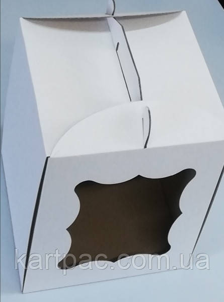 Упаковка для торта из микрогофры 230*230*210
