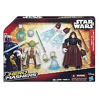 Разборные фигурки мастер Йода и император Палпатин, Машерс - Yoda, Emperor Palpati, Star Wars, Mashers, Hasbro, фото 1