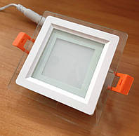 Світильник світлодіодний Feron AL2111 6w LED вбудовуваний зі склом, фото 1