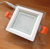 Светильник светодиодный Feron AL2111 6w LED встраиваемый со стеклом
