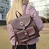 """Городской рюкзак коричневый """"Агапия Lilac"""""""