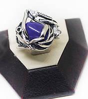 Кольцо серебряное с чароитом