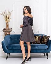 Платье коктейльное в расцветках 04ат41378, фото 3