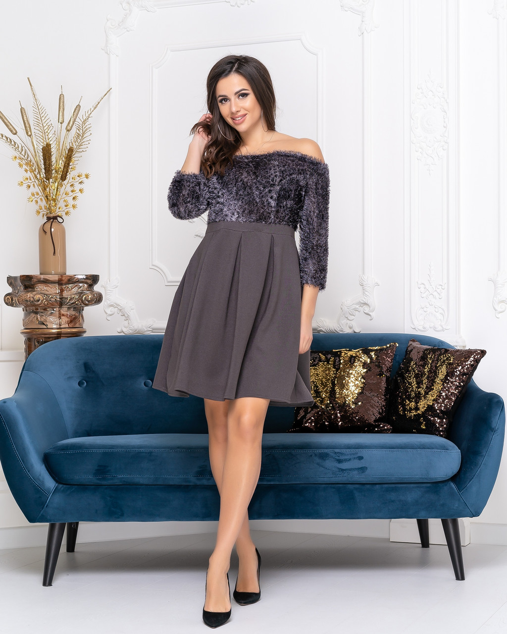 Сукня коктейльне в кольорах 04ат41378
