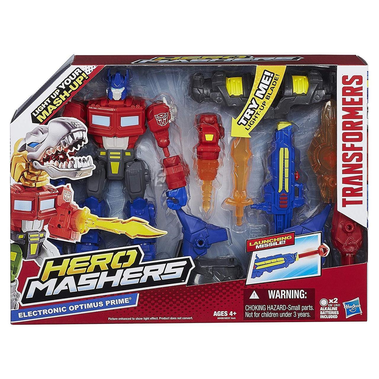 Электронно-разборная фигурка Оптимус Прайм - Optimus Prime, Electronic, Hero Mashers, Hasbro