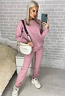 Женский зимний теплый спортивный костюм на флисе голубой розовый красный черный хаки 42 44 46 48, фото 1