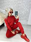 Женский зимний теплый спортивный костюм на флисе голубой розовый красный черный хаки 42 44 46 48, фото 8