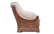 Кожаный диван Барон, не раскладной диван, мягкий диван, мебель из кожи, фото 2