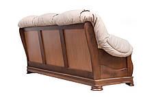 Кожаный диван Барон, не раскладной диван, мягкий диван, мебель из кожи, фото 3
