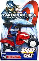 Игровой набор 2в1 Капитан Америка и квадроцикл - Captain America, Combat Atv, Blast & Go, Hasbro