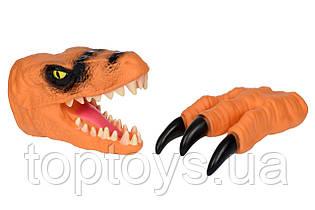 Ігровий набір Same Toy Dino Animal Gloves Toys помаранчевий (AK68623Ut-3)