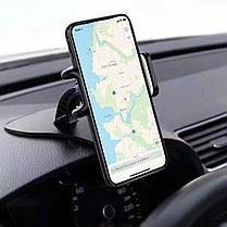 Remax Регулируемый зажим 360 градусов вращения Авто Держатель держателя Dashabord для мобильного телефона Xiaomi - 1TopShop, фото 2