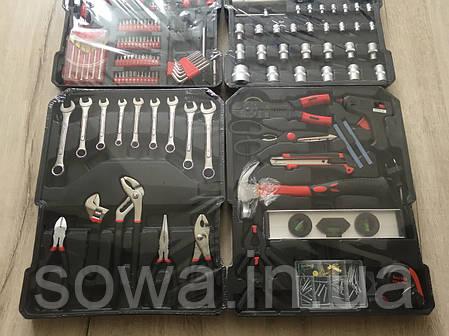 ✔️ Набір ключів al-fa 186 шт  ( C45 инструментальная сталь и Cr-V хром-ванадый ), фото 2