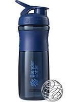 Спортивная бутылка-шейкер BlenderBottle SportMixer 820ml Navy, Original (144855)