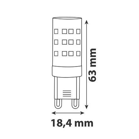 Лампа светодиодная капсула Horoz Electric Peta-10 10Вт G9 4200K 800Лм (001-045-00102), фото 2