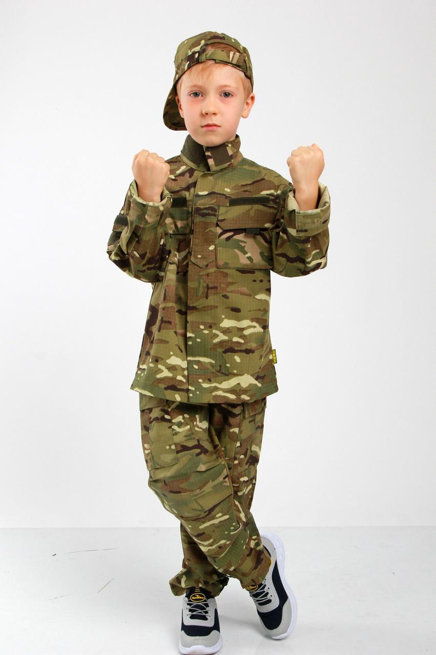 Военная форма для детей костюм Киборг камуфляж MTP копия взрослого костюма