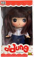 Лялька Ddung в білій сорочці і джинсовій спідниці (FDE1822)