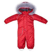 Комбинезон зимний детский Apollo Красный  с опушкой  DoRechi (ДоРечі)