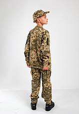 Военная форма для детей костюм Киборг 2 камуфляж Пиксель копия взрослого костюма, фото 3