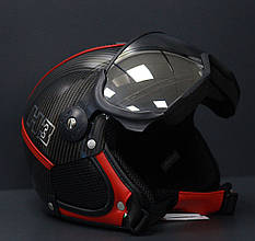 Шлем горнолыжный с визором HMR Carbon&Special H1 Diablo Black/Red L/M 509