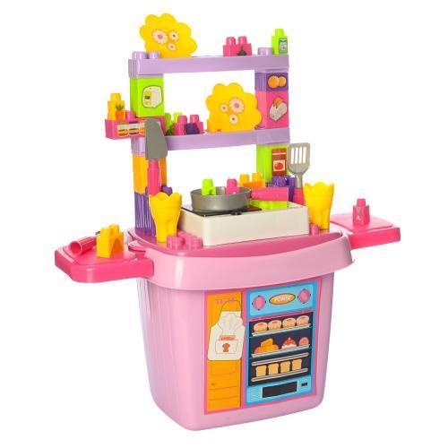 Конструктор 8402 кухня плита кухонные принадлежности 43 предмета в наборе