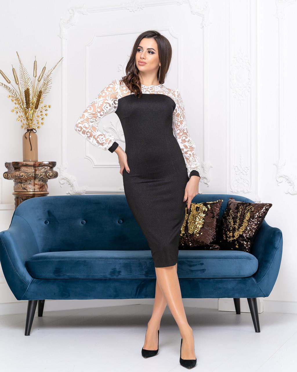 Платье футляр миди  04с544