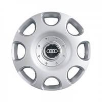 """Колпаки для колес 15"""" c логотипом автомобиля 4 шт (SKS 307) Ауди"""