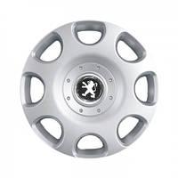 """Колпаки для колес 15"""" c логотипом автомобиля 4 шт (SKS 307) Peugeot"""