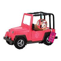 Транспорт для ляльок Our Generation Рожевий джип з чорною рамкою (BD37277Z)