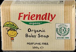 Органическое твердое мыло для рук Friendly organic без запаха 100 гр