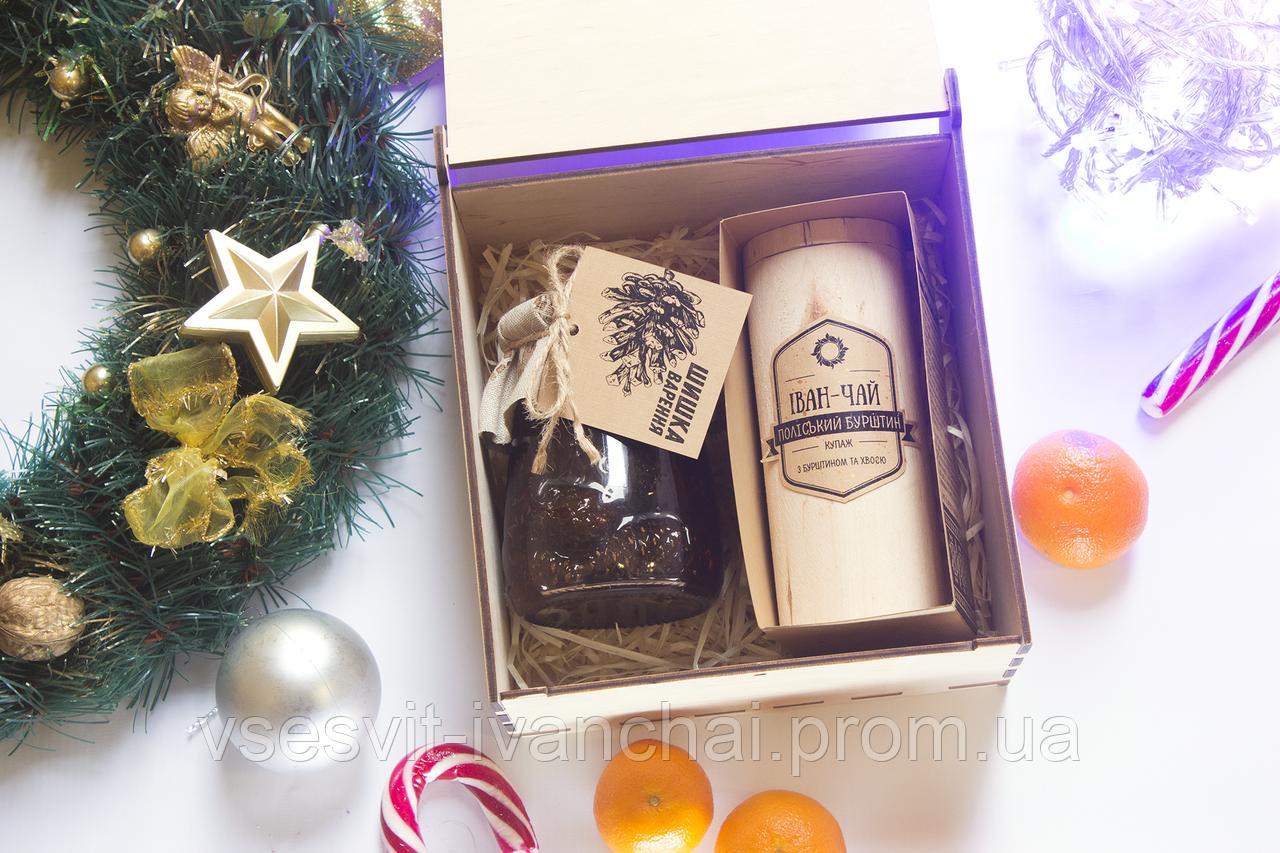 Набір подарунковий Іван-чай і варення із соснової шишки