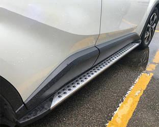 Боковые подножки Оригинал V3 (2 шт, алюм.) Toyota C-HR