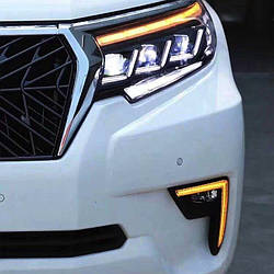 Передняя оптика Lexus-design-3-LED (2017+, 2 шт) Toyota LC 150 Prado