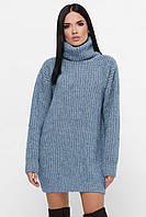 Толстый свитер–туника с воротником Элина (42–50р) в расцветках, фото 1