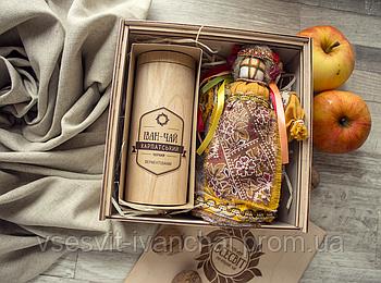 Набір подарунковий Карпатські чаювання (иван-чай и кукла-мотанка)