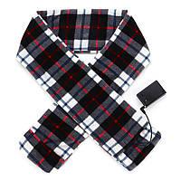 Зимнее отопление электрический теплый шарф флис длинный шарф стиль решетки - 1TopShop