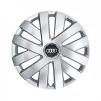 """Колпаки для колес 15"""" c логотипом автомобиля 4 шт (SKS 315) Ауди"""