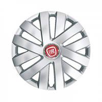 "Колпаки для колес 15"" c логотипом автомобиля 4 шт (SKS 315) Fiat"
