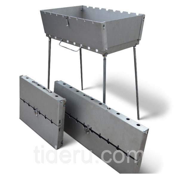 Мангал-чемодан на 8 шампуров, 3 мм