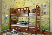 Кровать детская Arbor Drev Смайл сосна двухъярусная 80х190, Яблоня локарно