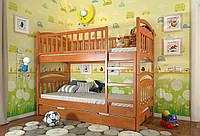 Кровать детская Arbor Drev Смайл сосна двухъярусная 90х200, Ольха