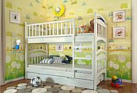 Кровать детская Arbor Drev Смайл сосна двухъярусная 90х200, Белый