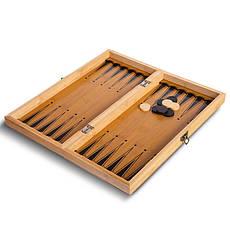 Шахматы, шашки, нарды 3 в 1 бамбуковые B-3135, фото 2