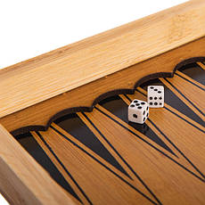 Шахматы, шашки, нарды 3 в 1 бамбуковые B-3135, фото 3